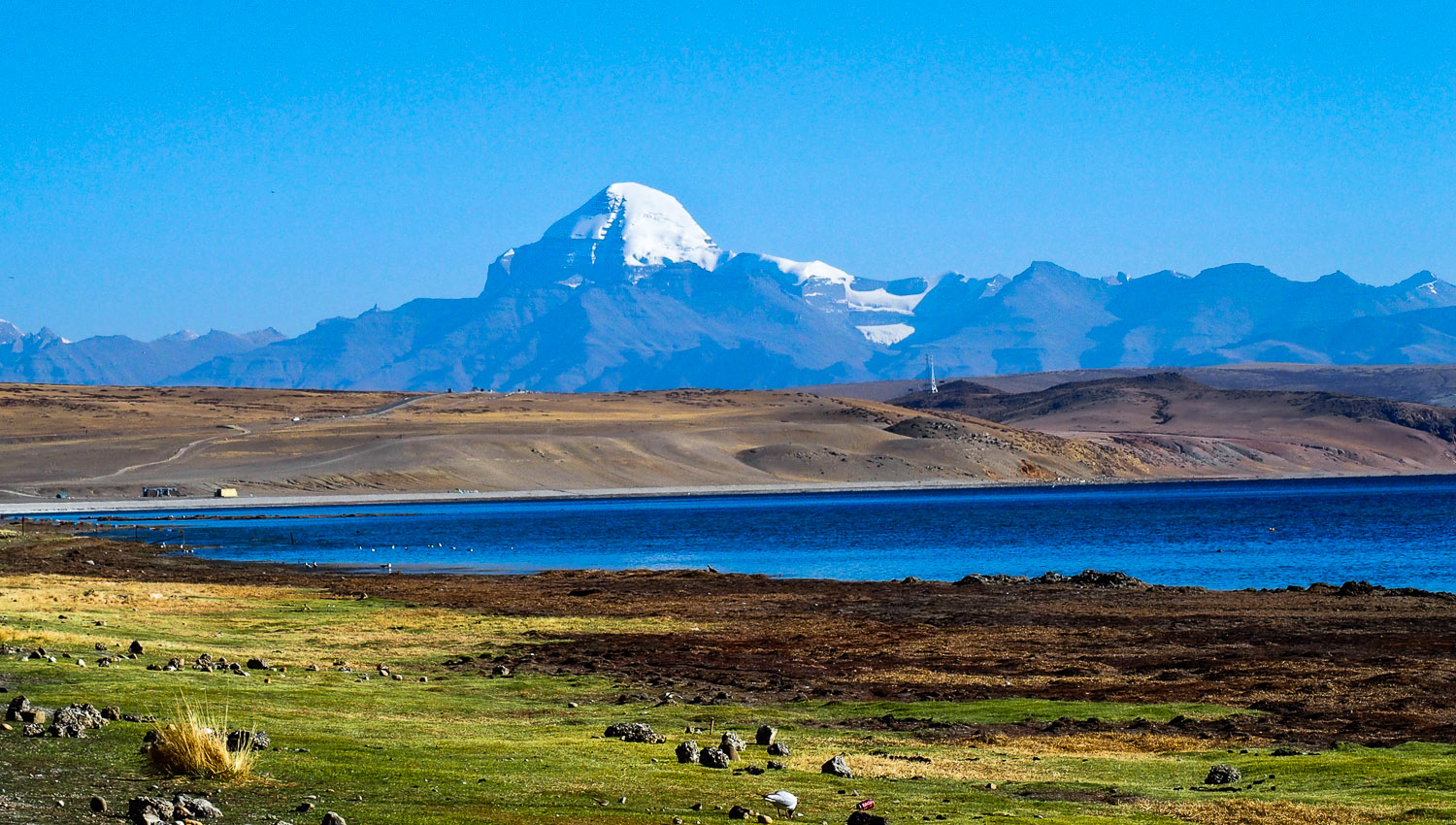 The wide open spaces of the Tibetan plateau.   Image:    Giuliana Bencovich