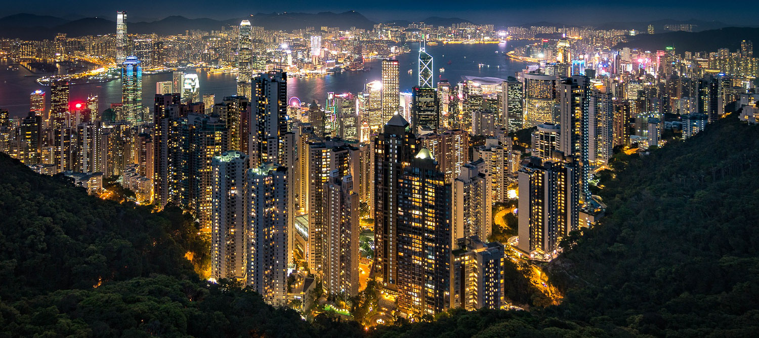 Hong Kong at night from Victoria Peak. Image:     Nathaniel Parker