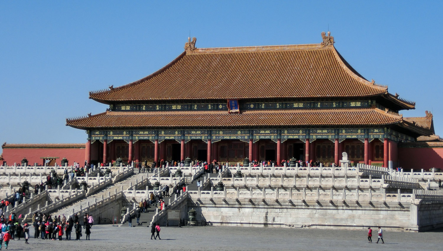 One of the palaces in the Forbidden City, Beijing. Image:     Jens Junge