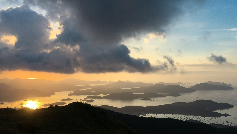 Sunrise over the New Territories. Image:   Edmund Yu