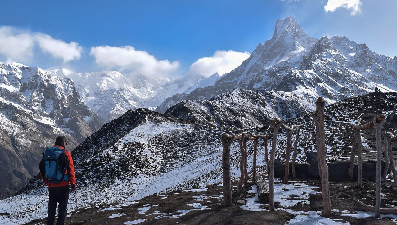 Mountain trekking in Nepal. Image:   Deep Manandhar