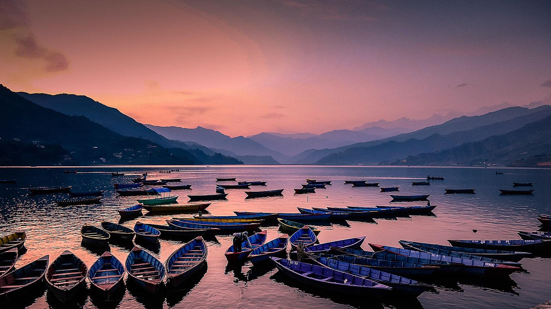 Phewa Tal after sunset. Image:   Ambir Tolang