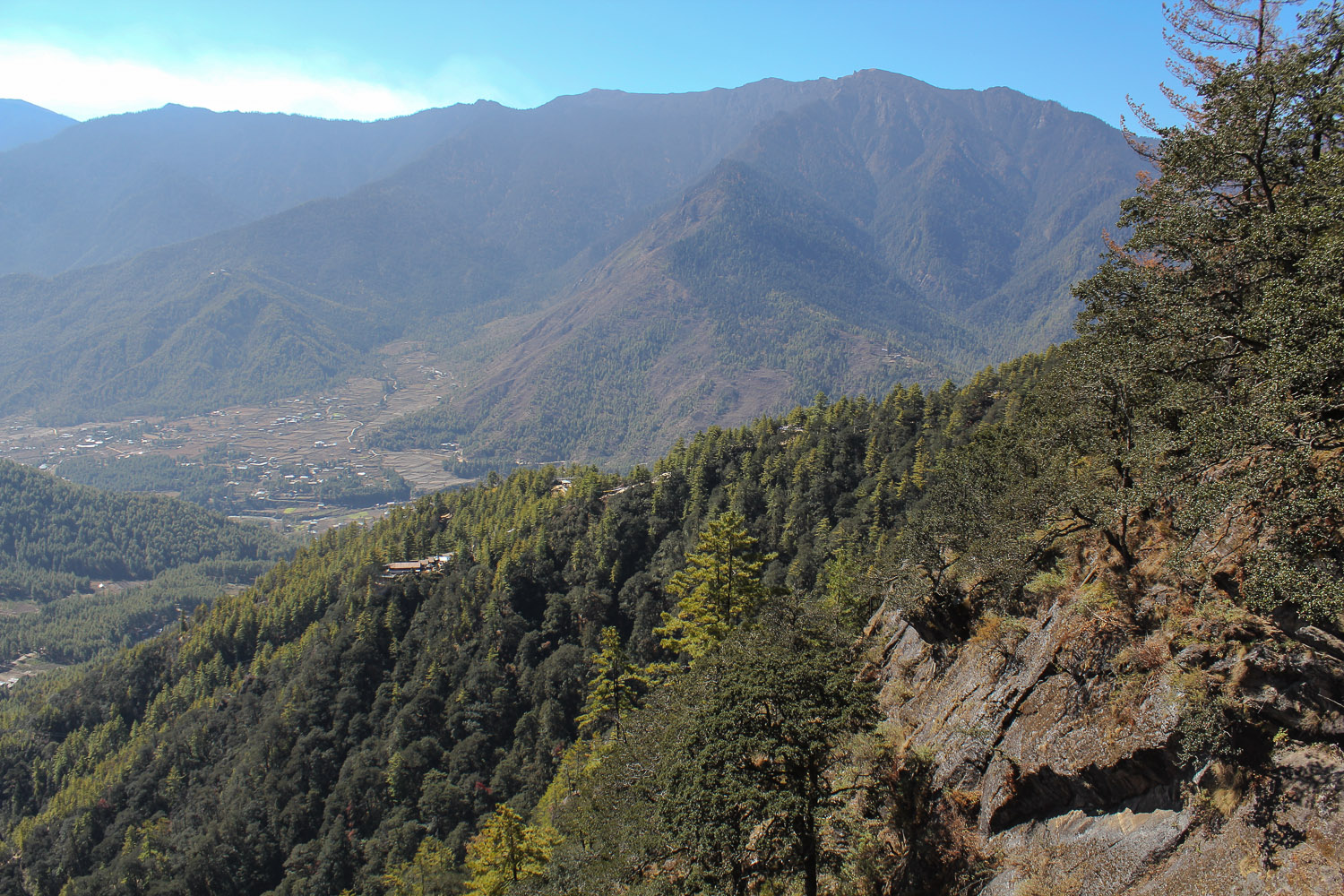 View of the Paro valley from the Tiger's Nest. Image: © Alan Williams