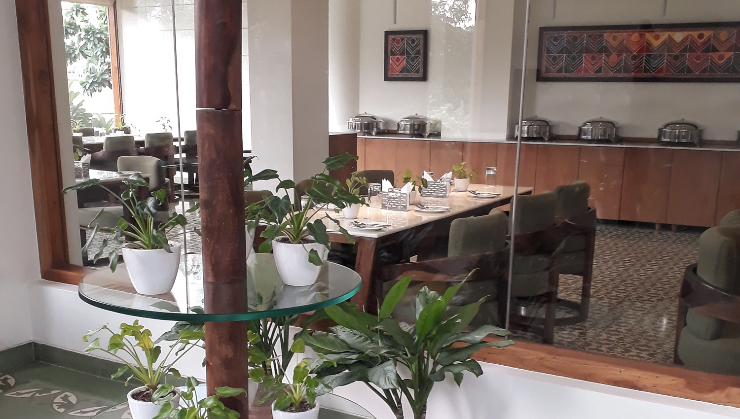 Green plants in the common areas. Image:  © Ambica Gulati