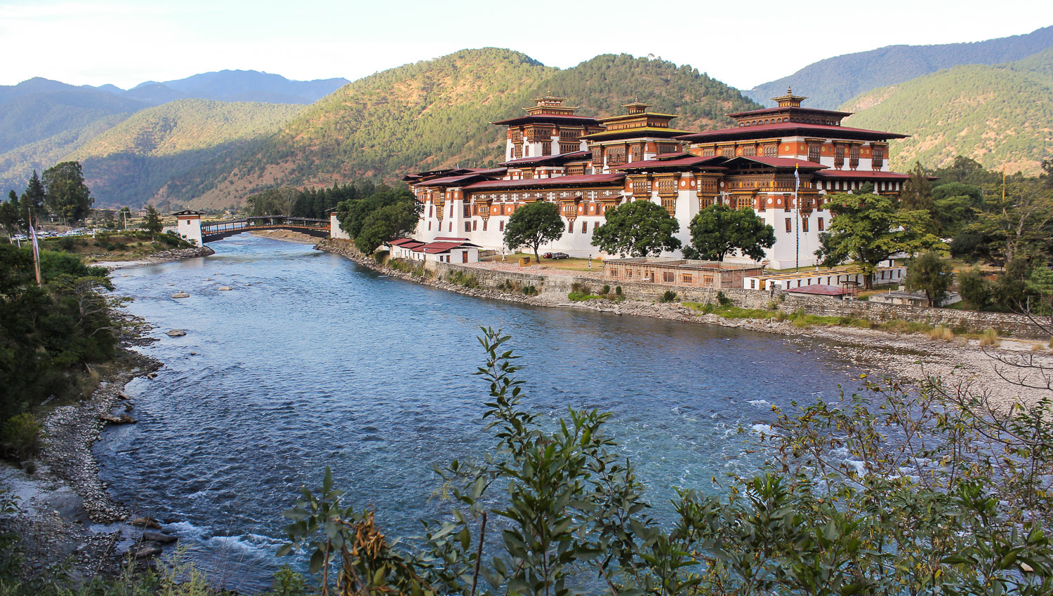 The Punakha Dzong is nearly 400 years old. Image:  ©   Alan Williams