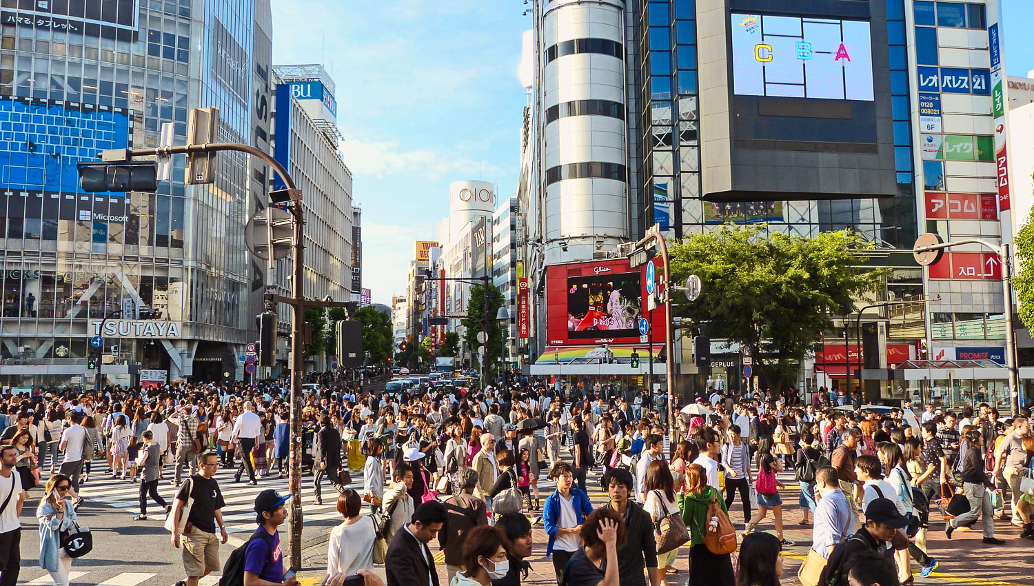The Shibuya intersection is one of the world's busiest. Image:     Jason Goh