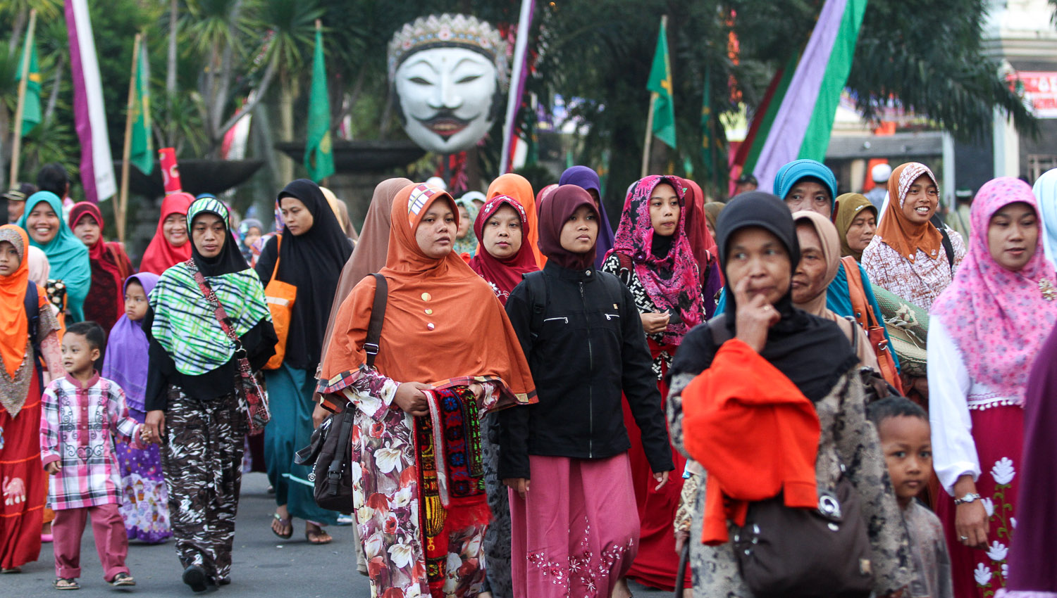 Muslims walking to a prayer gathering for Eid in Indonesia. Image:  ©    Suryo    | Dreamstime