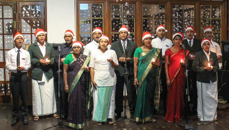 Christmas carols at a hotel in Sri Lanka's hill country. Image:  © Alan Williams