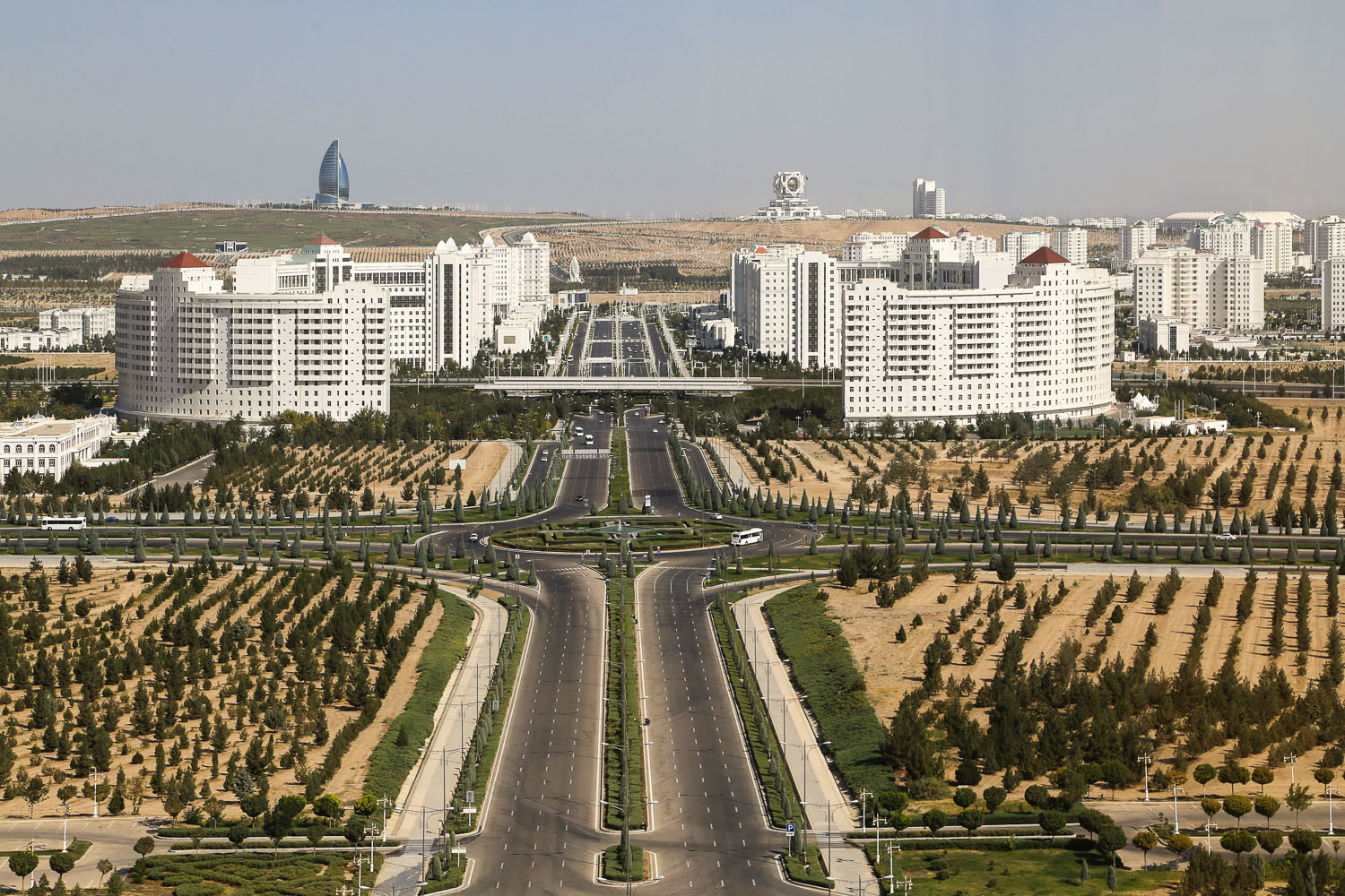 View of Ashgabat from the Neutrality Monument. Image:  © Alan Williams
