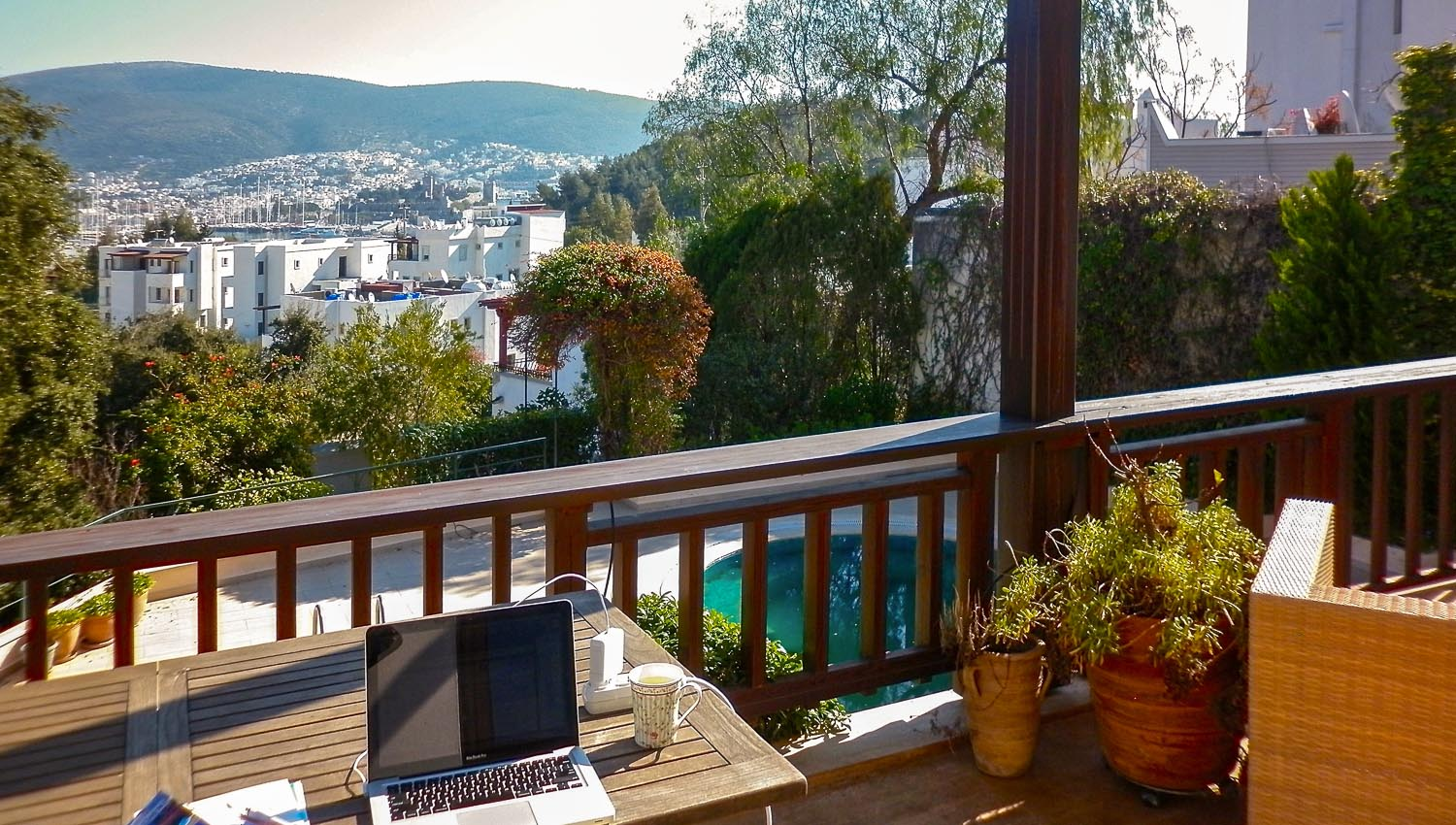 View from my house sit in Bodrum, Turkey. Image:  © Nannette Holliday