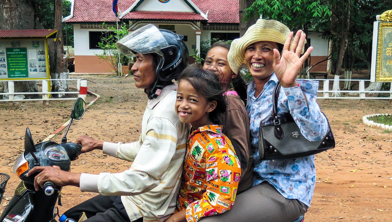 Overloaded motorcycles are a hazard on many roads. Image:     kolibri5