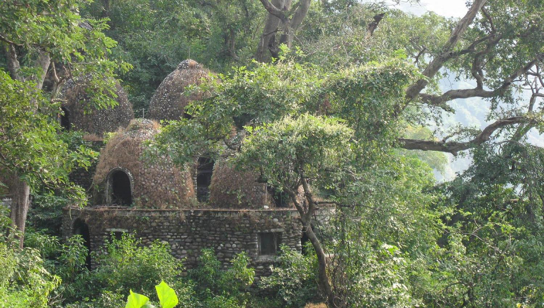 Old meditation huts in the forest near Rishikesh. Image:  Eran Sandler