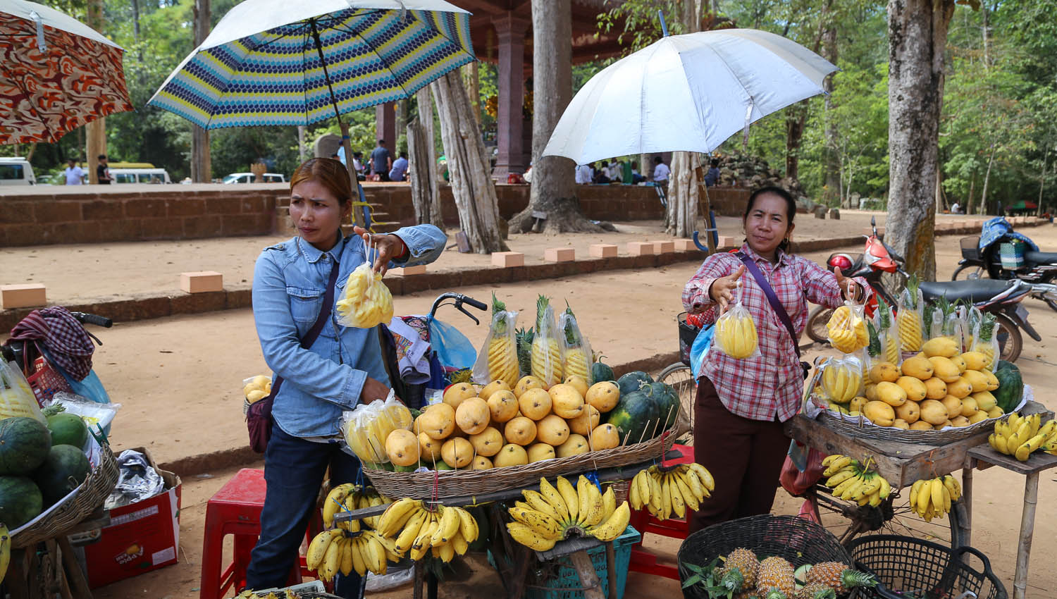 Fruit sellers outside the Bayon temple. Image:  © Alan Williams