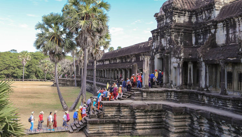 A tour group entering Angkor Wat. Image:  © Alan Williams