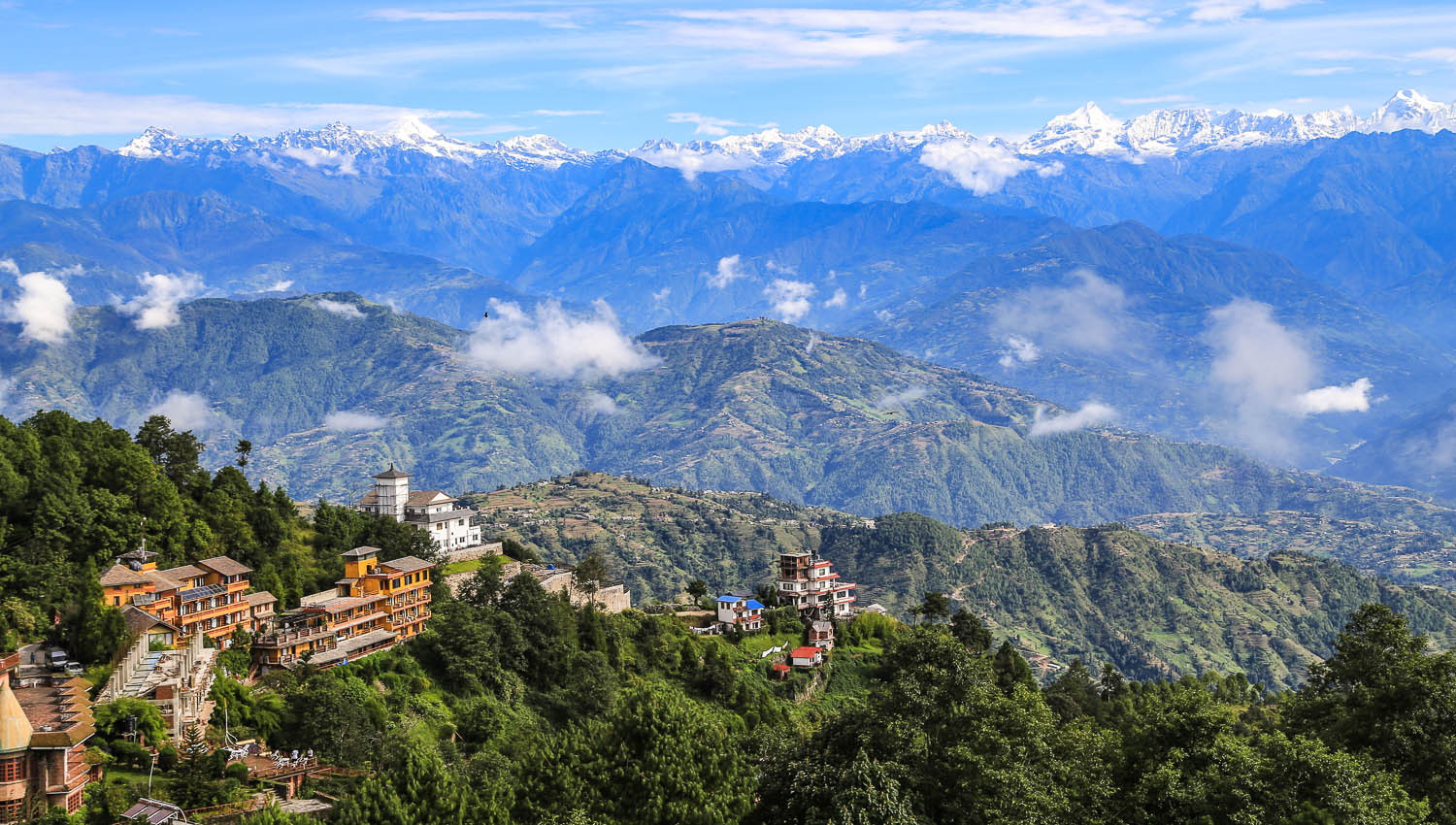 The beautiful Himalayas from Nagarkot. Image:  ©    Bae Zuejia    | Dreamstime
