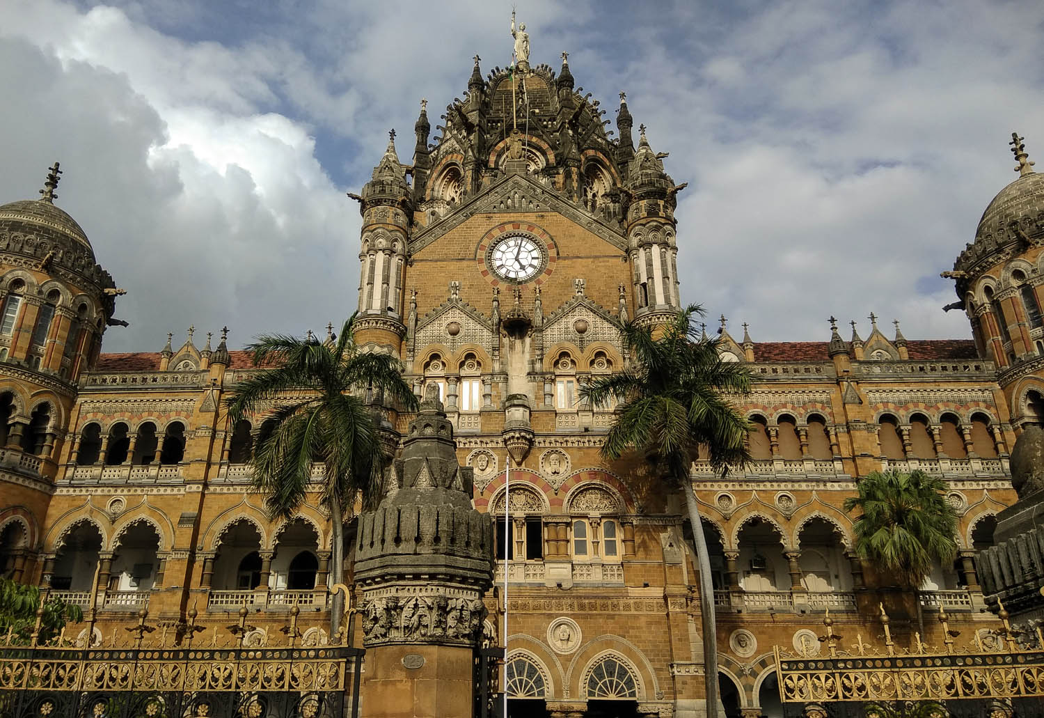 The station's ornate central clock tower. Image:     Sushil Sam