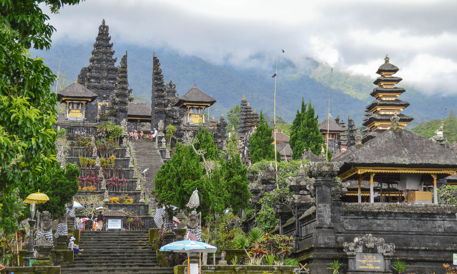 Besakih is Bali's most important temple complex. Image:     MariaHZ