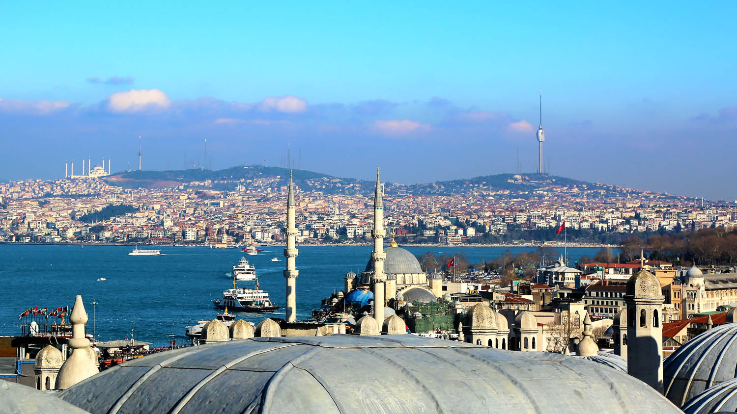 Looking across to the Asia side of Istanbul. Image:     Konevi