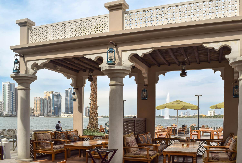 The open-air Al Fanar restaurant. Image:  Ambica Gulati
