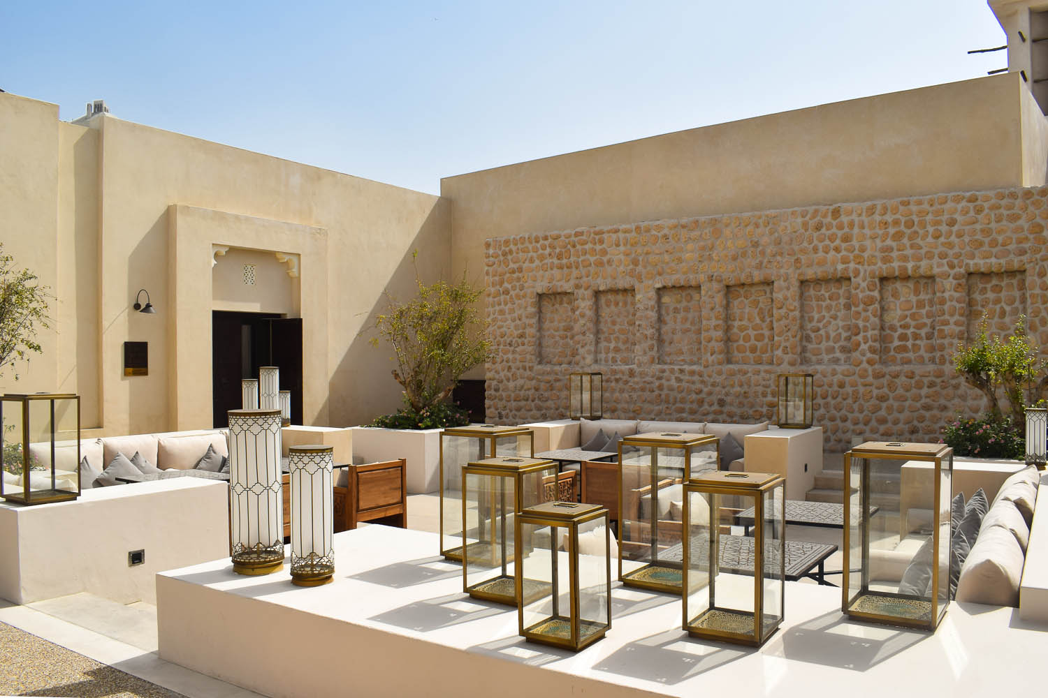 The open-air restaurant at Al Bait. Image:  Ambica Gulati