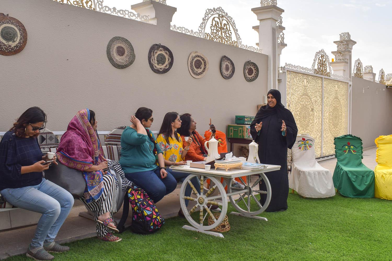 Fatima explains the local culture. Image:  Ambica Gulati