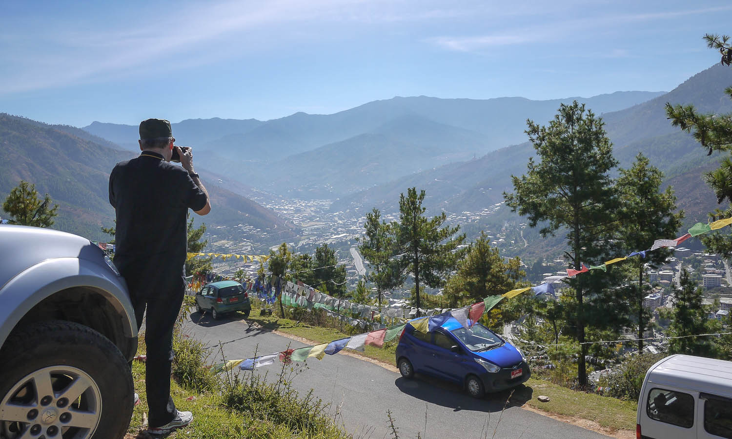 A view of Thimphu from near the Takin Preserve. Image:  © Alan WIlliams