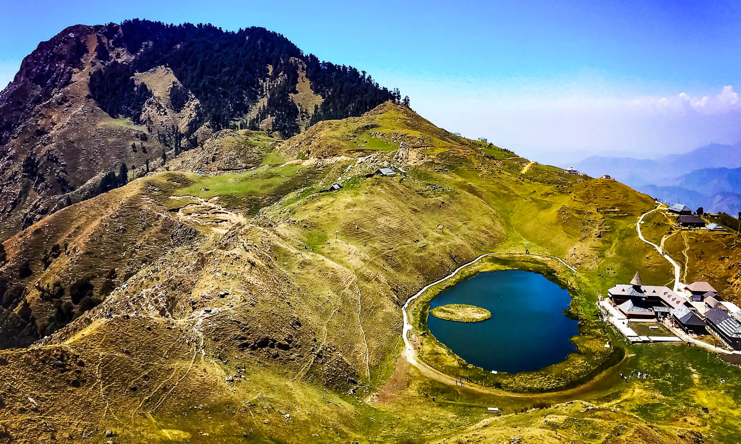 Prashar Lake with its temple and floating island. Image:  Bharat Devgan | Dreamstime