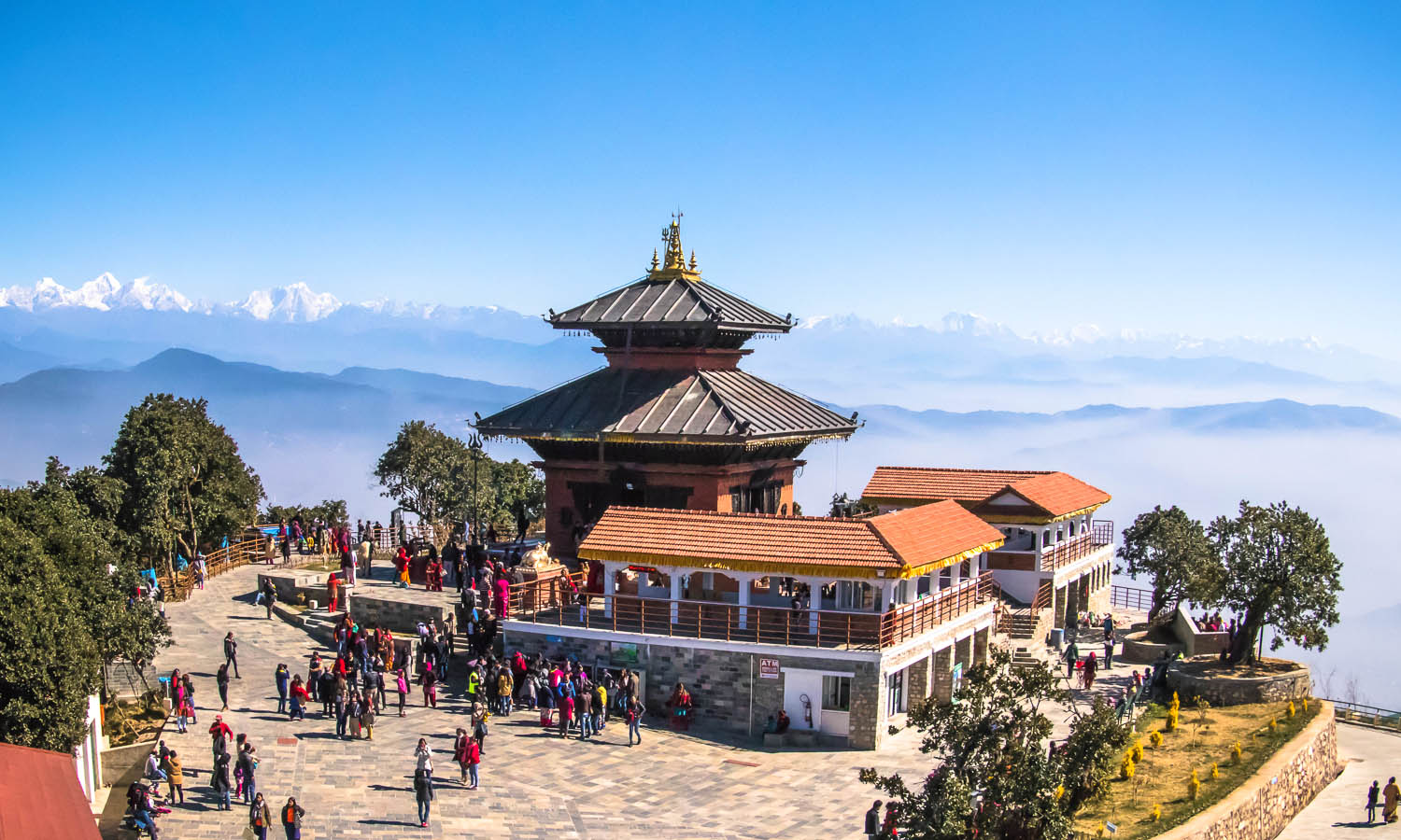 The view from the top across to the Himalayas on a clear day. Image: © Siraj Ahmad