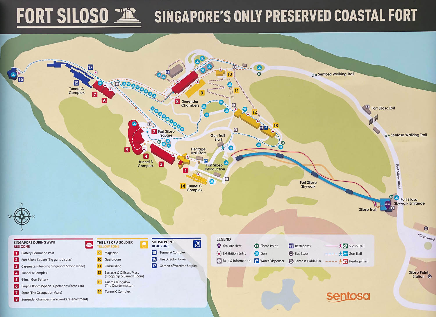 A map of the Fort Siloso sights. Image:  © Alan Williams