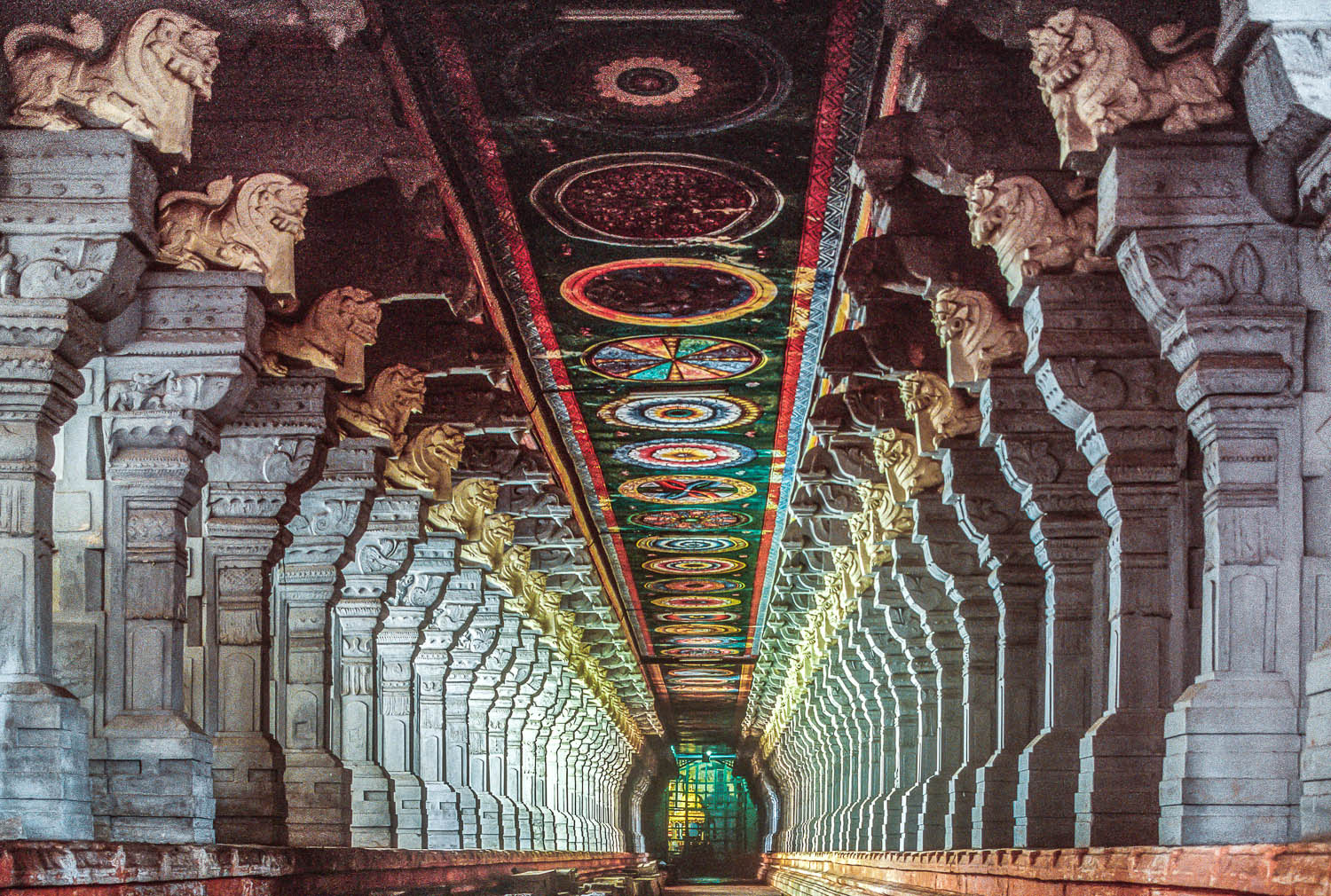 Inside the beautiful Ramanathaswamy Temple. Image: © Anil Dave