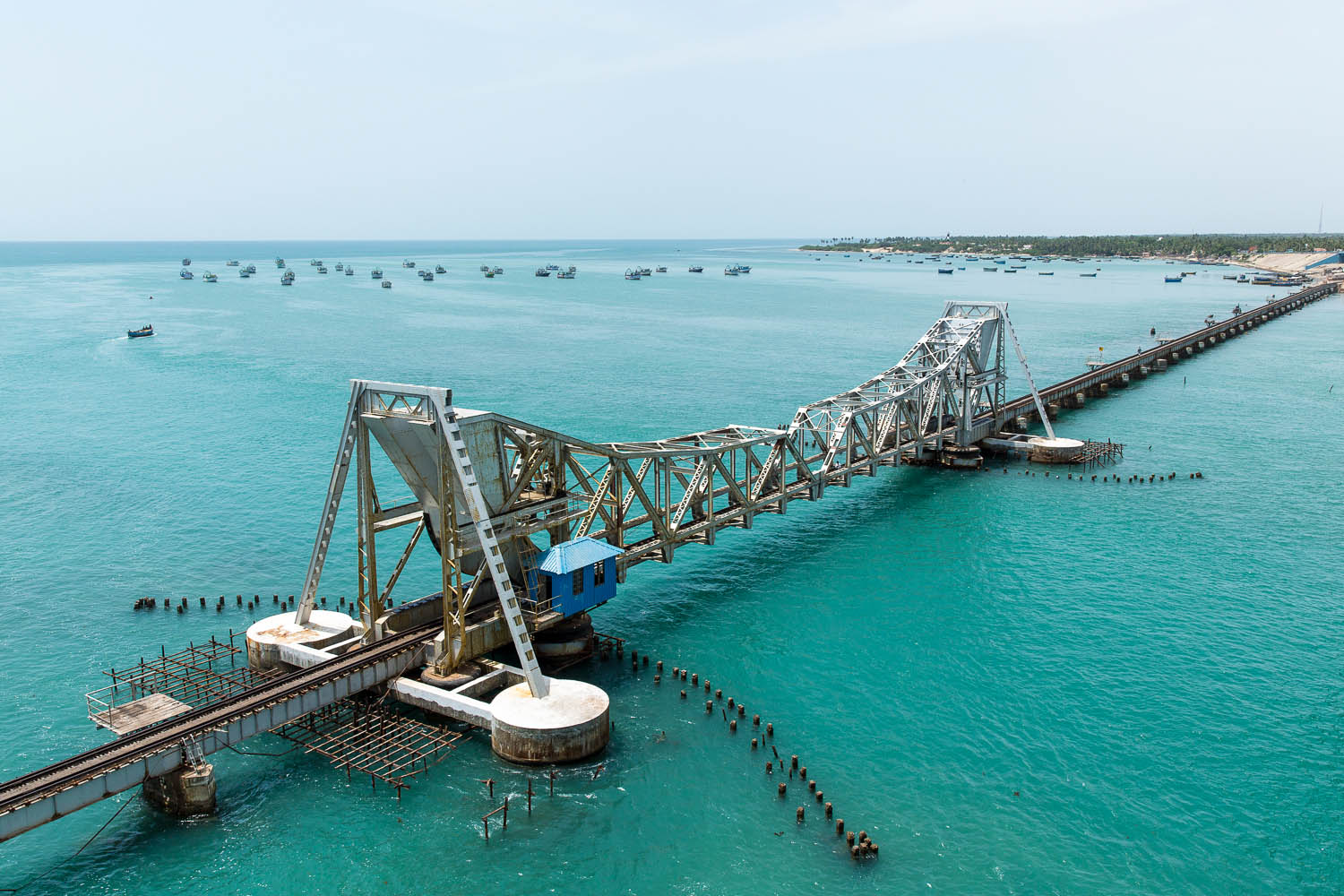 The railway bridge was the first bridge to connect Pamban Island to the mainland.