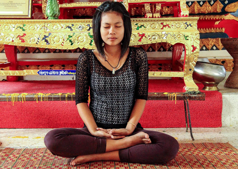 Thai resorts combine yoga with meditation. Image:  Dean Moriaty