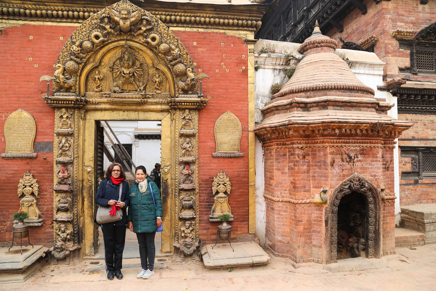 The famous Golden Gate in Bhaktapur Durbar Square. Image:  © Alan Williams