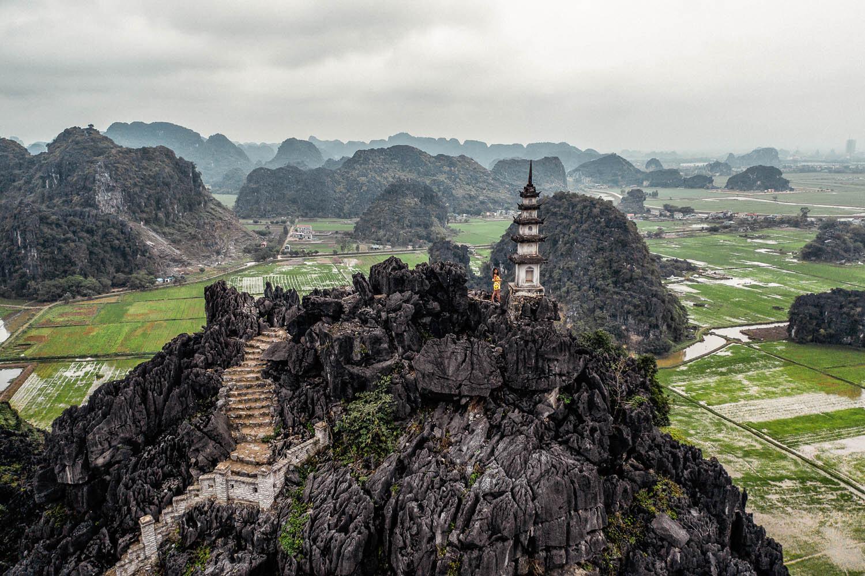 An impressive landscape shot from a drone in Vietnam. Image:  © Nicholas Courtney