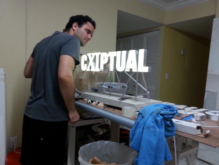 Jorge Wellesley in his studio Courtesy Residency Unlimited