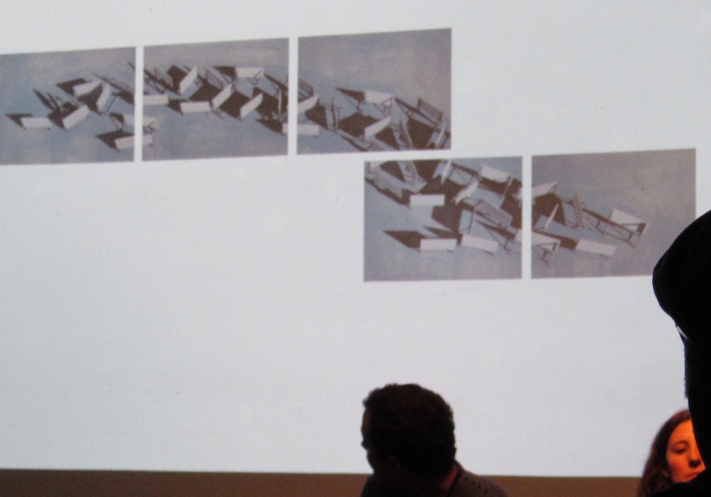 Jorge Wellesley at RU, discussing his work  The Damn Circumstance of Politics in Everywhere , 2013  Photo: Cuban Art News