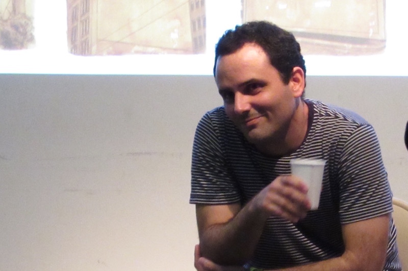Jorge Wellesley in the artists' conversation at RU. Photo: Cuban Art News