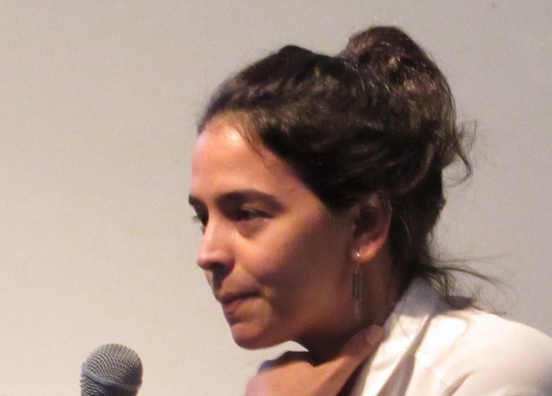 Elizabet Cerviño responds to a question from the audience at the RU artists' chat. Photo: Cuban Art News