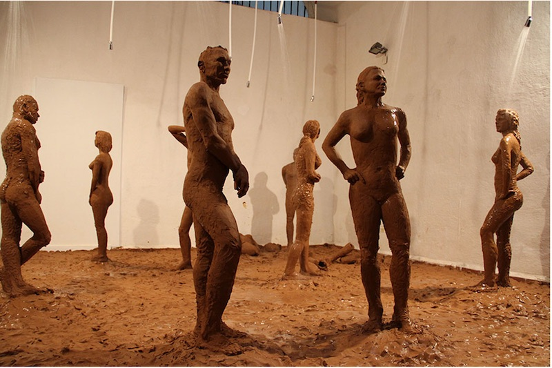 Elizabet Cerviño, Fango , 2012, an ephemeral installation presented in a collateral exhibition during the 11th Havana Biennial  Courtesy elizabetcervino.com