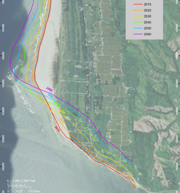 Source: Washington Department of Ecology. 2017. Understanding Washaway Beach: Assessment of coastal erosion and future projections. Forthcoming publication.