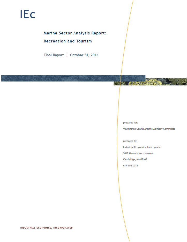 Marine Sector Analysis Report: Recreation and Tourism