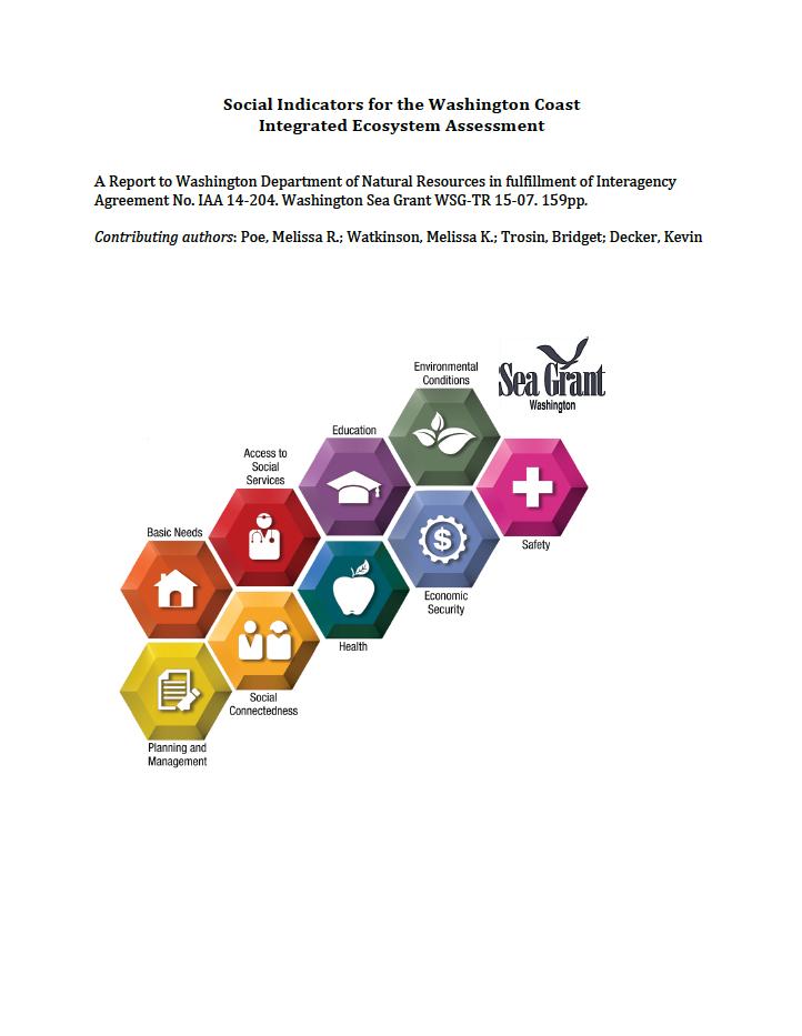 Social Indicators for the Washington Coast Integrated Ecosystem Assessment