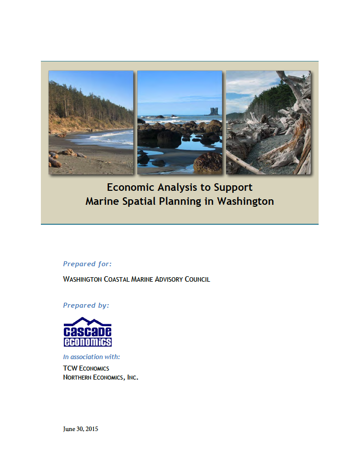 Economic Analysis to Support Marine Spatial Planning in Washington