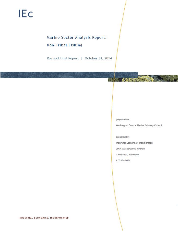Marine Sector Analysis Report: Non-Tribal Fishing