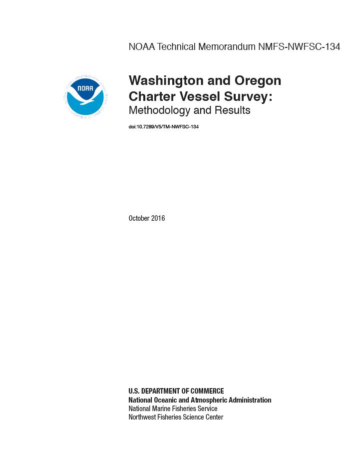 Washington and Oregon Charter Vessel Survey: Methodolgy and Results