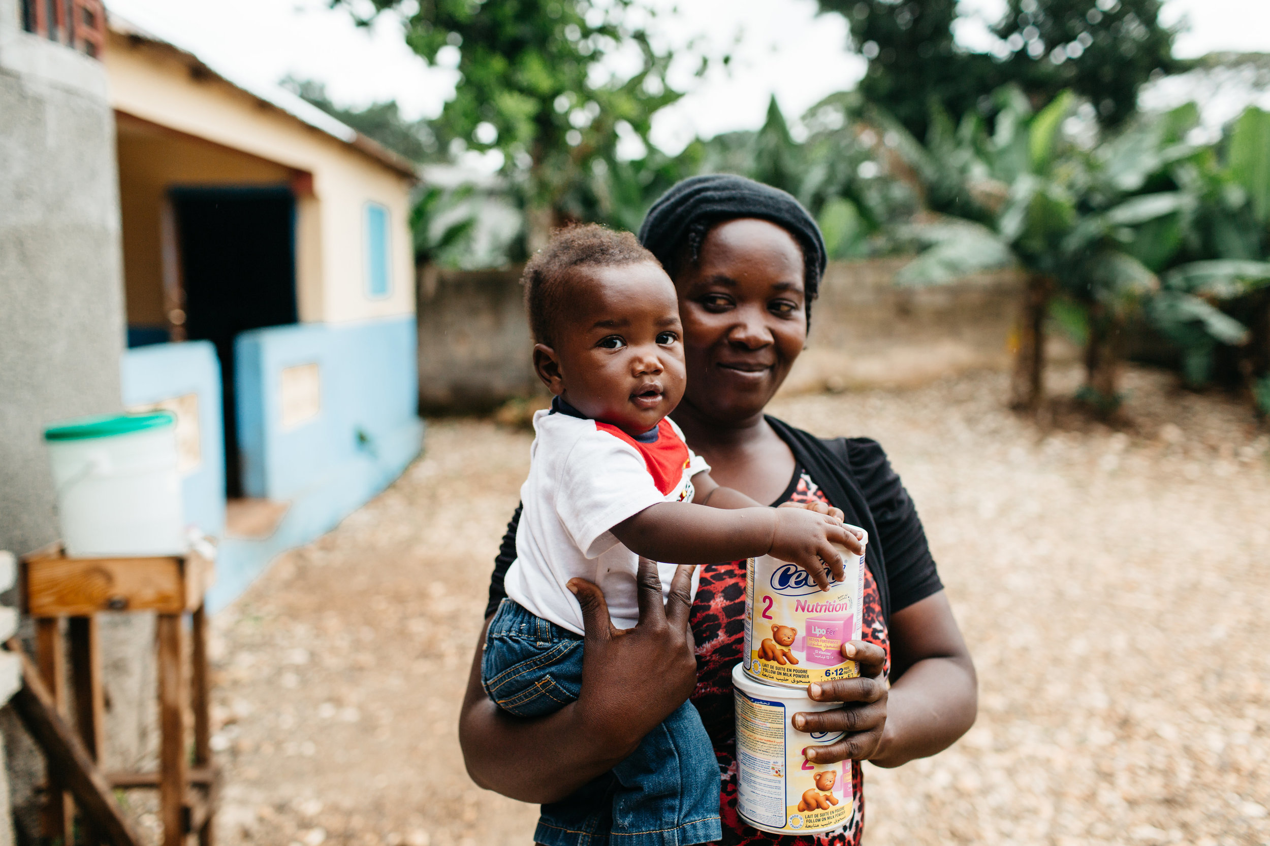 Formula Support - In cases where breastfeeding is medically impossible or mothers have died, we provide formula to help families provide nourishment to their baby. Each week, caregivers come to receive a wellness check, formula, and education.