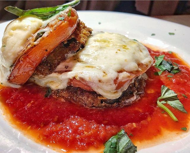 Awesome shot from @just_what_the_doc_ordered of our eggplant parmigiana! 😍❤️ grab yours today. 🍴