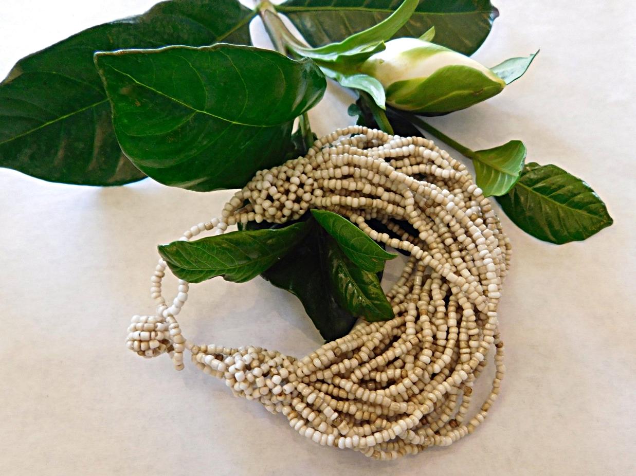 Adjustable beaded bracelet with a boho beachy vibe -