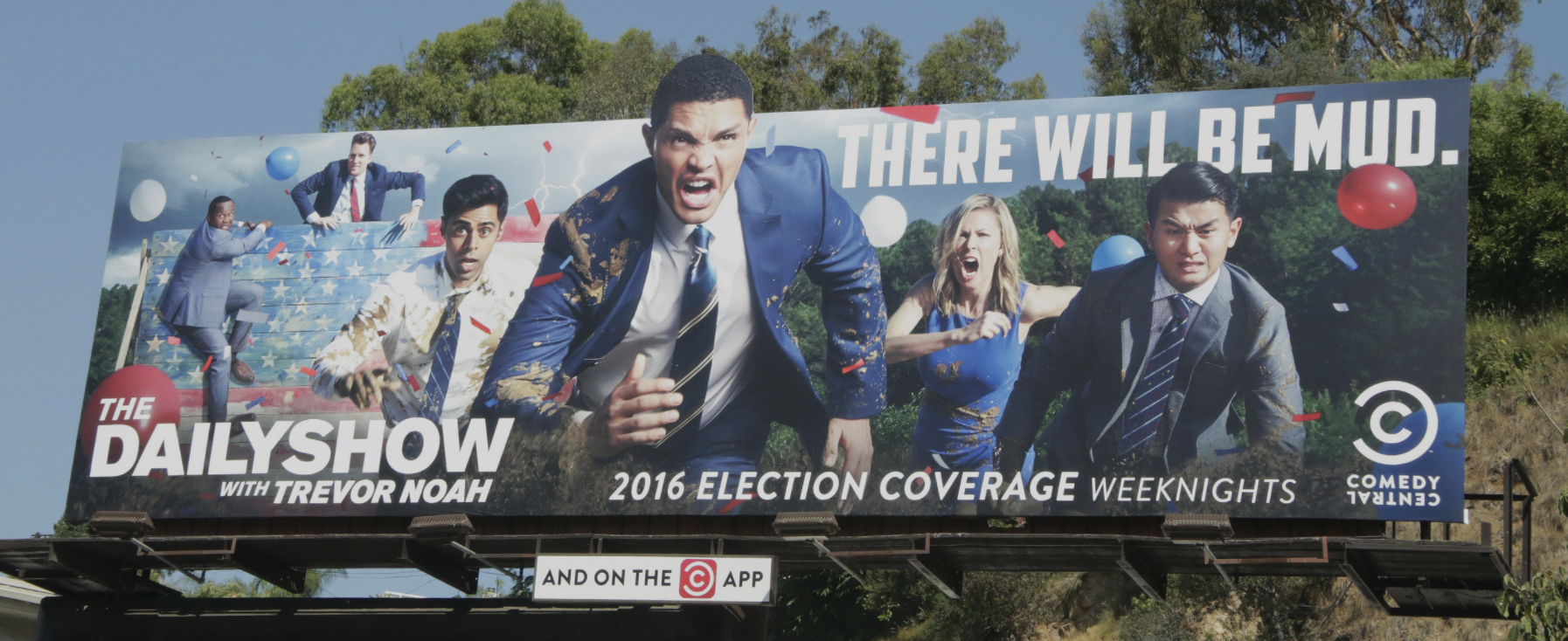 - THE DAILY SHOW WITH TREVOR NOAH, ELECTION COVERAGE TAGLINE: