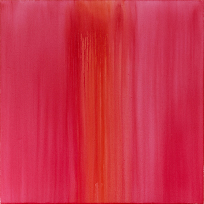 ANASTASIA PELIAS, RITUAL DEVOTION (RUBY LAKE LIGHT, MADDER LAKE BRILLIANT) , 2012. OIL ON CANVAS. COURTESY THE ARTIST AND OCTAVIA ART GALLERY, NEW ORLEANS.